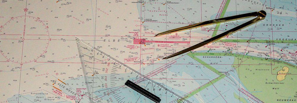 Ausbildung auf der Seekarte